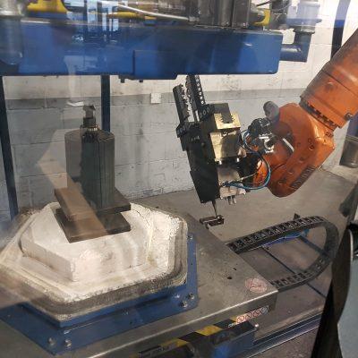 Roboter Ofen Rotorhandling
